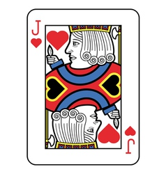 Stylized Jack of Hearts vector image