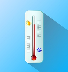 thermometer Flat design vector image