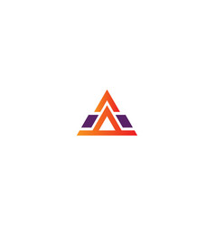 triangle shape pyramid company logo vector image