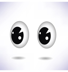 Two eyes vector