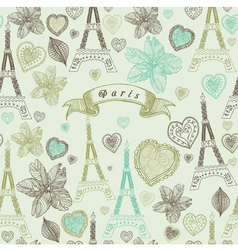 Vintage Paris Pattern vector image