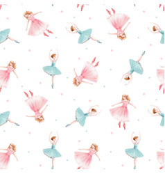 watercolor seamless pattern with cute vector image