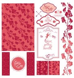 wedding set pink 380 vector image