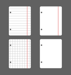 White leaves with holes for the folder in a line vector