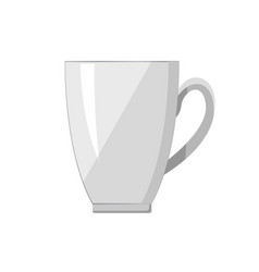 white porcelain cup handle vector image