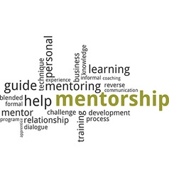 word cloud mentorship vector image
