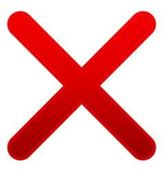 x shape over white delete remove cancel symbol vector image