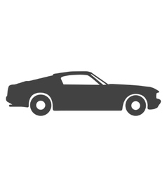 Old vintage classic car icon vector image