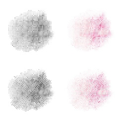 Set of Vintage Abstract Halftone Backgrounds vector image vector image