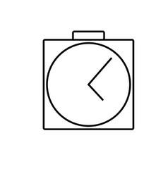 analog clock alarm icon vector image