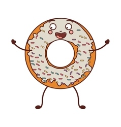avatar donut with white glazed and colored sparks vector image vector image