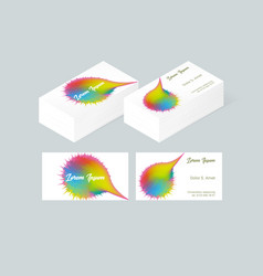 Business card template 2 vector