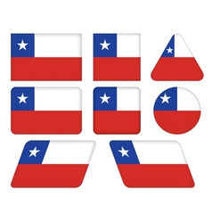 buttons with flag of Chile vector image vector image