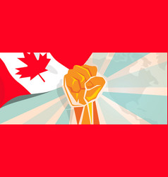 Canada fight and protest independence struggle vector