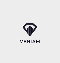 Diamond real estate logo design luxury home vector
