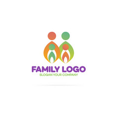 family logo consisting of in simple figures vector image