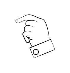 hand man finger line vector image vector image
