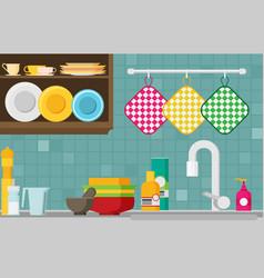 kitchen sink flat vector image
