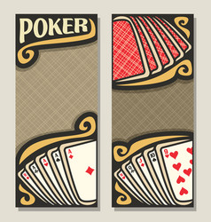 banners for poker vector image vector image