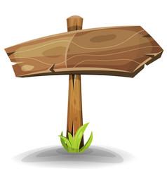 comic wooden sign arrow vector image
