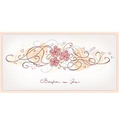 cute pink flowers vintage background vector image vector image