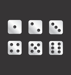 dice faces vector image