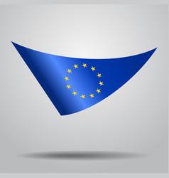 european union flag background vector image