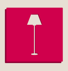 lamp simple sign grayscale version of vector image vector image