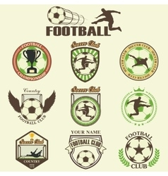 Set of Soccer Football vector image vector image