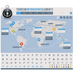 Tourism infographic elements vector image vector image