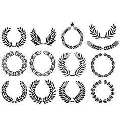 Wreath set vector