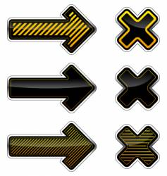 arrows and crosses vector image