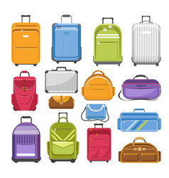 bags different type models of travel fashion or vector image