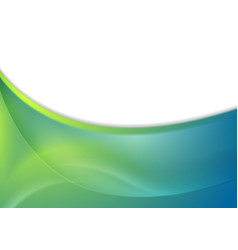 blue and green abstract wavy background vector image vector image