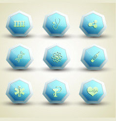 medical care icons set vector image