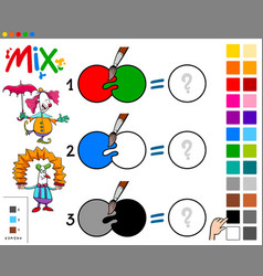 mix colors educational cartoon game vector image