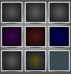 set of metal backgrounds vector image