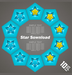 star download vector image