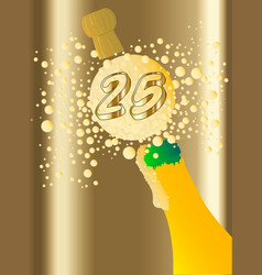 25 champagne vector image