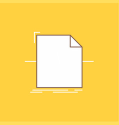 3d document file object processing flat line vector image