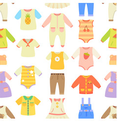 Baby clothes poster pattern vector