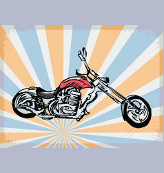 Background with motorcycle vector
