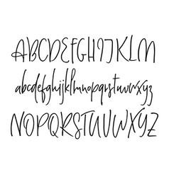 ballpen lettering alphabet vector image