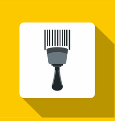 Bar code scanner icon flat style vector