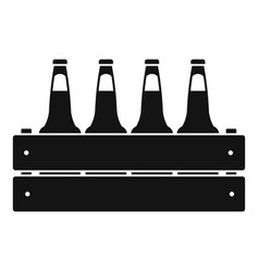 beer crate icon simple style vector image