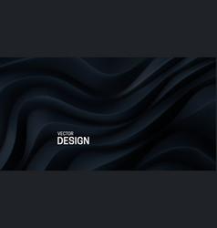 black curvy pattern surface vector image