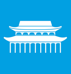 Buddha toothe relic temple in singapore icon white vector