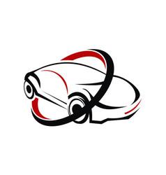 Car logo design template vector