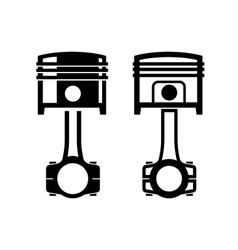 Car piston icon vector image