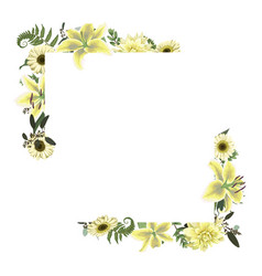 Card floral design with forest leaf fern vector